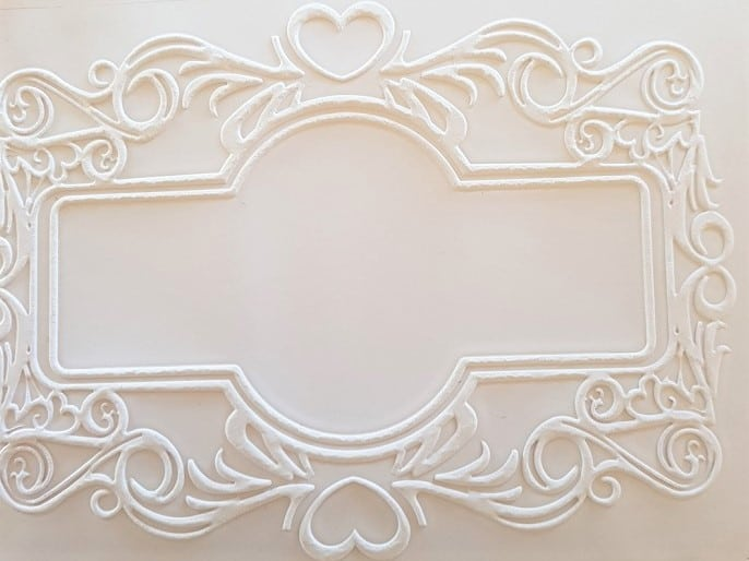 Fun with embossing creating a frame paper finished project