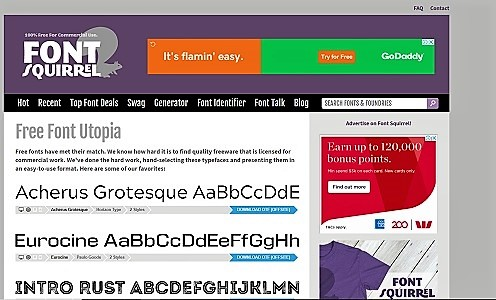 Font Squirrel website picture