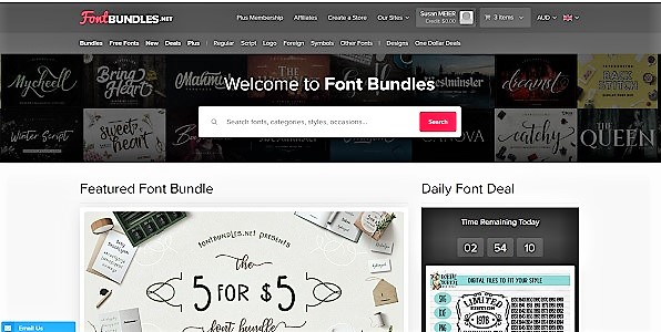fontbundles website picture to access free fonts