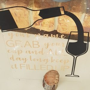 Grab your glass sign for post wedding favor ideas