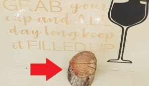 Wooden stand for Grab your glass sign for post wedding favor ideas