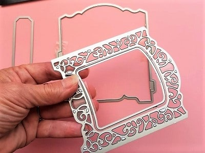 Special wedding card die to use with the Sizzix