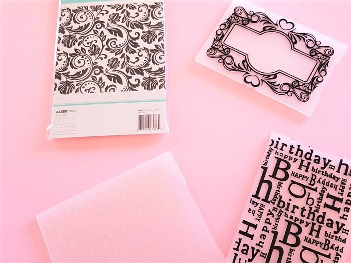 A number of embossing folders for Sizzix