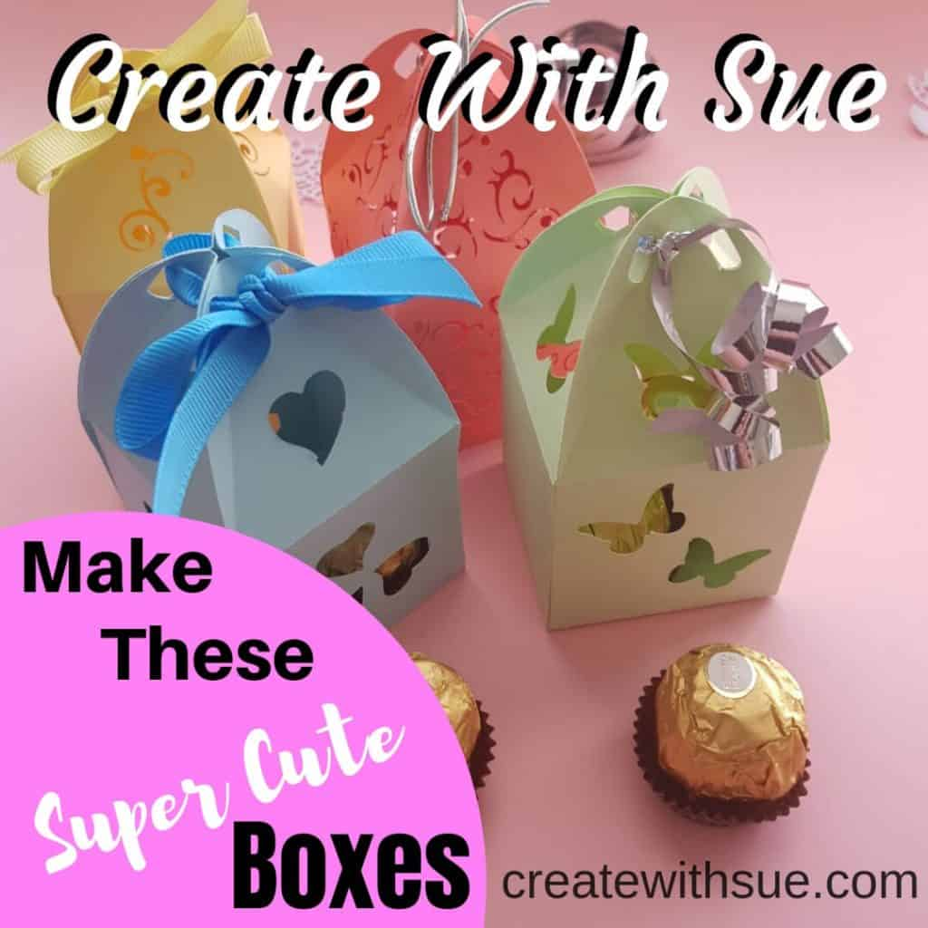 Super cute boxes to make with free template