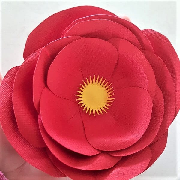 Paper flower made from an svg file by Create With Sue