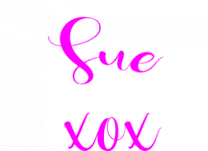 Create With Sue sign off