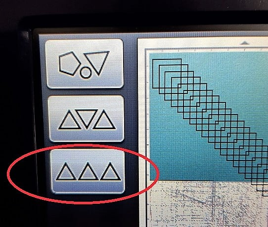 Scan N Cut - Icons will sort object on your mat to maximize your materials.