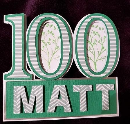 Creative ideas for Projects -Matt 100 year old Birthday Card