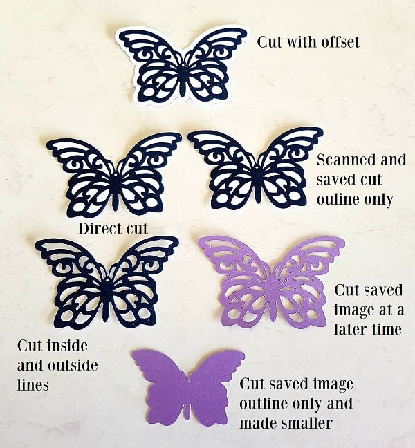 Scanned and cut butterflies done on the Scan N Cut