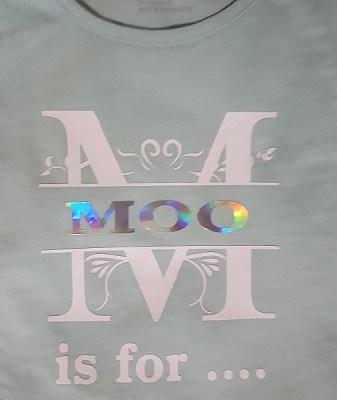 HTV vinyl on a t-shirt.