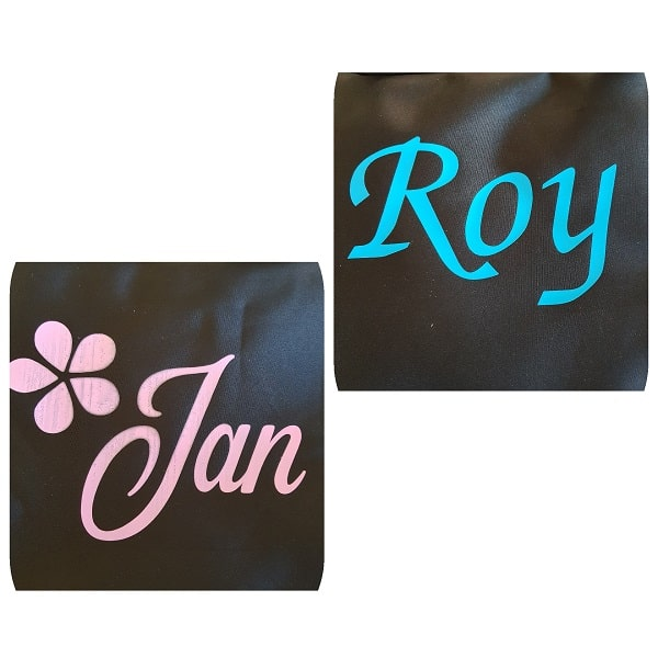Finshed HTV vinyl on bags project