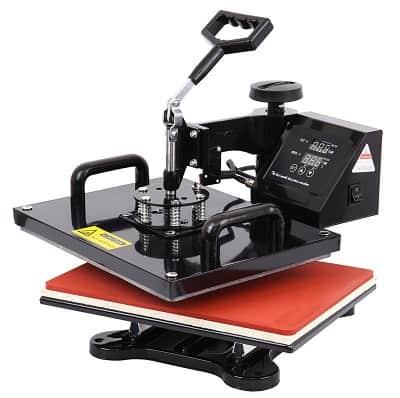 Swing Away heat press for bonding HTV vinyl