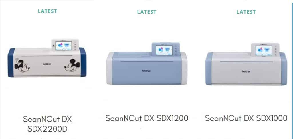 SDXD2200D SDX1200 and SDX1000 in the post how to choose a Scan N Cut to buy.