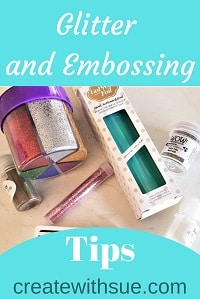 Pinterest Pin glitter and embossing
