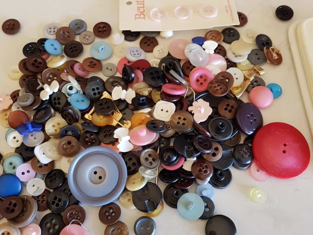 Buttons for the baby romper card