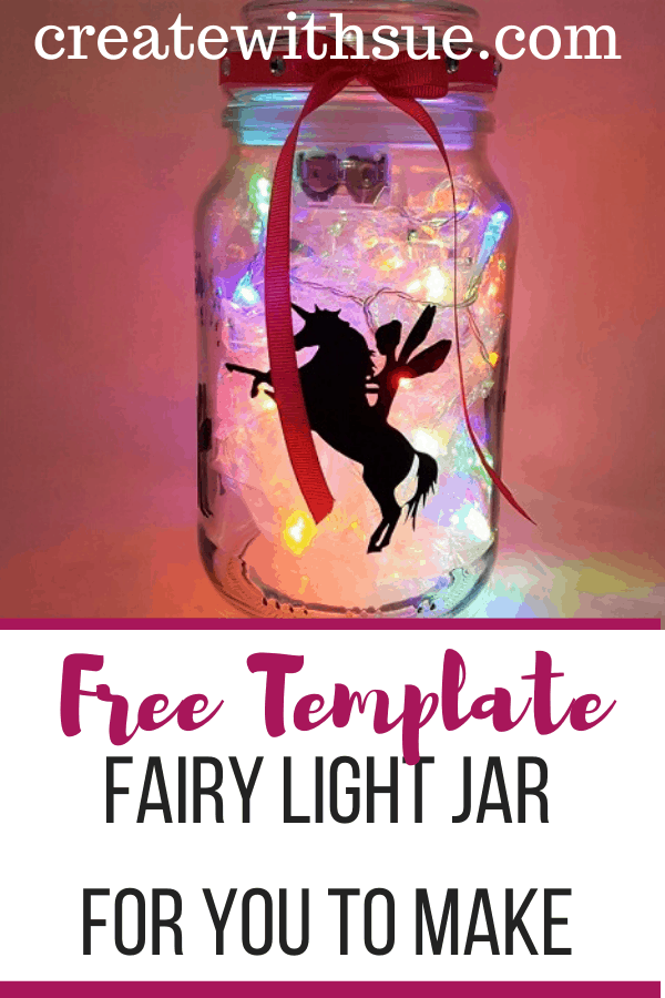Fairy light jar Pinterest Pin