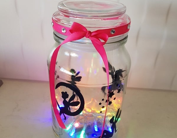 Finished fairy light jar for the post