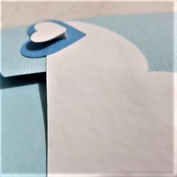 Raised embellishments to hook the top flap into in the post how to make a large envelope