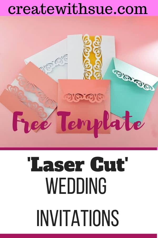 Laser Wedding invitations free template Pinterest pin for creative ideas in the post Wedding favor ideas