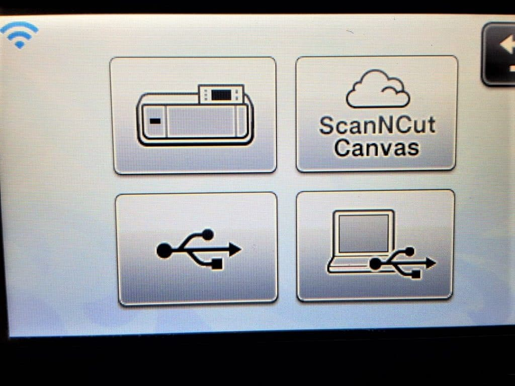 Scan N Cut screenshot showing how to save your design to your USB or Canvas Workspace in the post how to make a large envelope