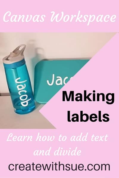 Making labels in downloaded version Canvas Workspace