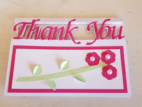 Thank you card finished describing the various components for the post create a thank you card - Scan N Cut.