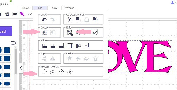 The Group icon in Canvas Workspace in the post difference between grouping and welding