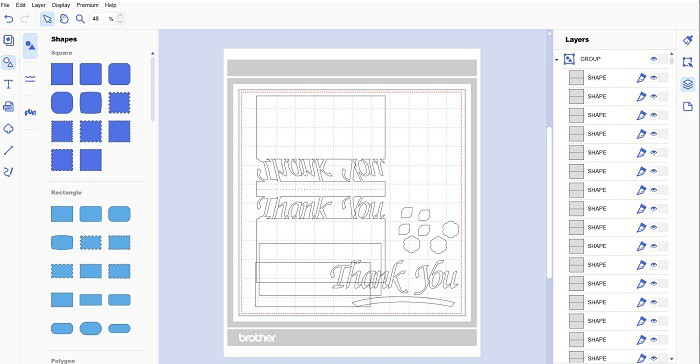 Thank-you-card-on-downloaded-version-of-Canvas-Workspace to send to your Scan N Cut