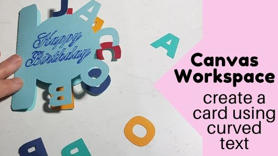 Create a card with curved text in Canvas Workspace