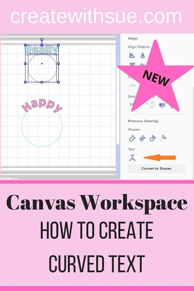 Pinterest pin for How to create curved text in Canvas Workspace using the newly released Fit To Path function.