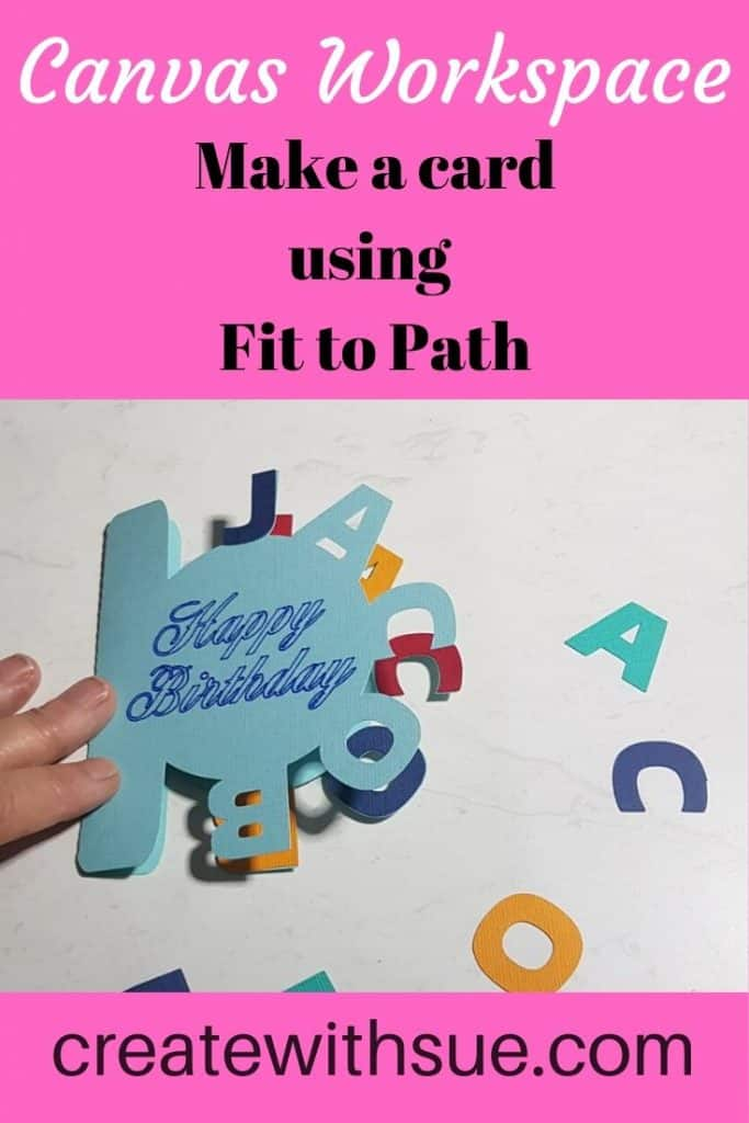 Pin on how to create a curved text card in Canvas Workspace using the Fit to Path feature.