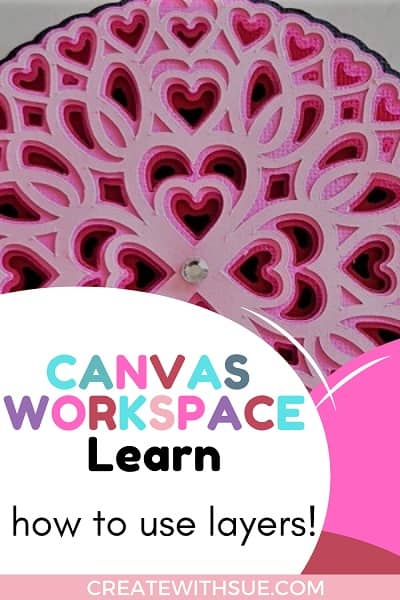 Canvas Workspace how to use Layers and make a 3D Mandala Pin