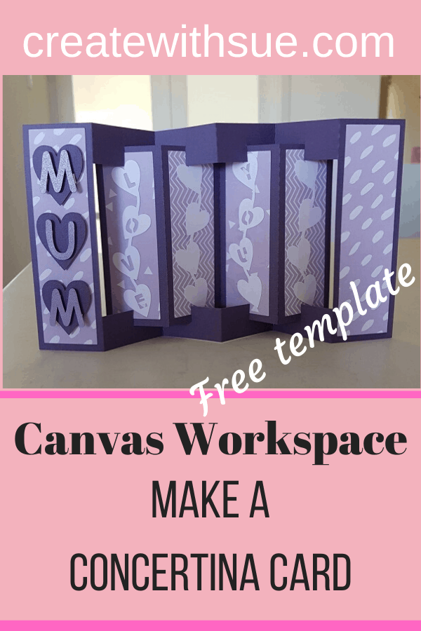 Make a Concertina card in Canvas Workspace with a free template pin