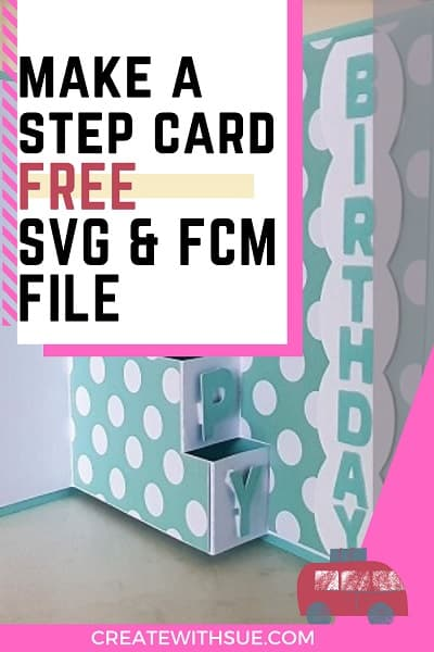 Pinterest Pin for the tutorial on how to make a Step Card