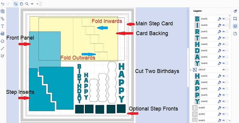 File layout to make the Step Card