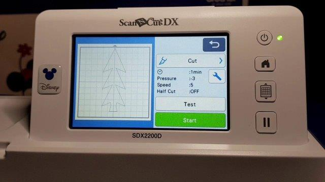 Select Test cut on your DX to check depth of cutting blade.