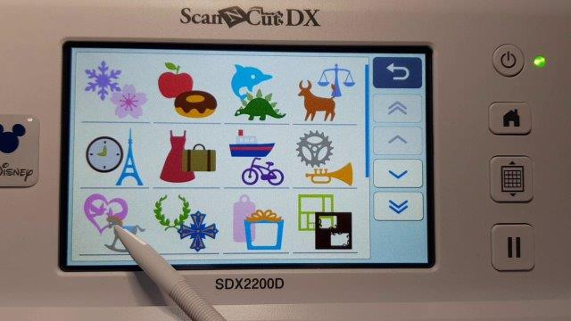 view of multiple designs that are inbuilt into the Disney 2200D Scan N Cut