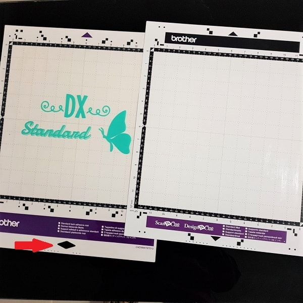 The DX mat and the CM mat with the design on the clear mat cover