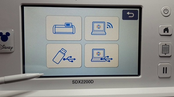 Options to retrieve data on your Scan N Cut