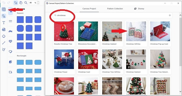 Free Christmas projects in Canvas Workspace