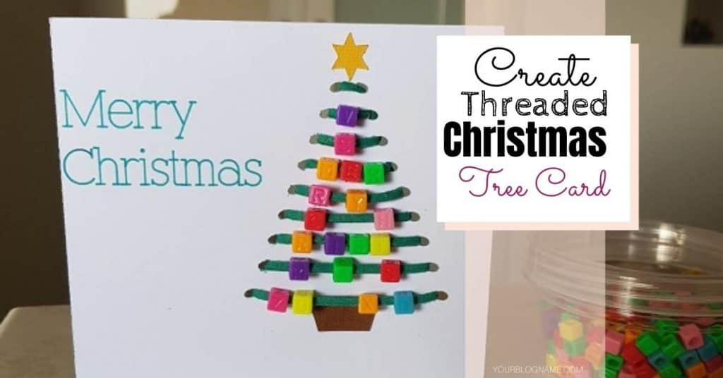 Main picture Threaded Christmas Tree Card