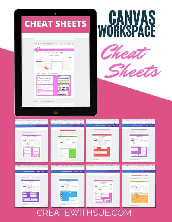 Canvas Workspace Cheat Sheets graphics