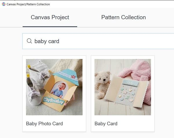Quick baby card in Canvas Workspace free designs