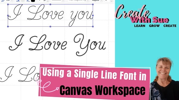 Using single line fonts in Canvas Workspace