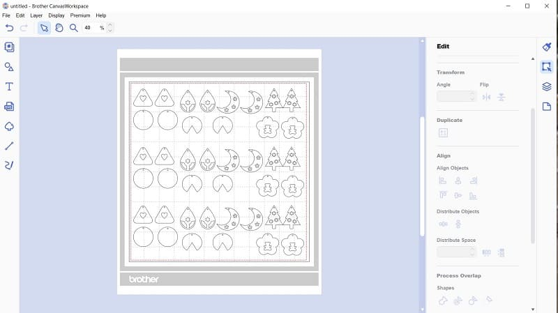 Duplicated earring pattern on the Canvas Workspace mat for making multiple pairs for craft fairs or gifts.